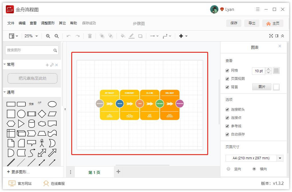金舟流程图操作手册